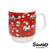 紅色款【日本進口正版】凱蒂貓 Hello Kitty 日本製 遊樂園 陶瓷 馬克杯 270ML 三麗鷗 - 308054