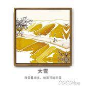 油畫 裝飾布置中國風二十四節氣裝飾畫餐廳客廳墻壁墻畫掛畫掛件農民畫 coco衣巷