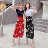 度假旅游閨蜜裝半身裙多種穿法圍裙沙灘裙開叉裙
