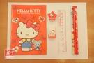 Hello Kitty 凱蒂貓 袋裝文具組 蝴蝶結 紅 KRT-668500