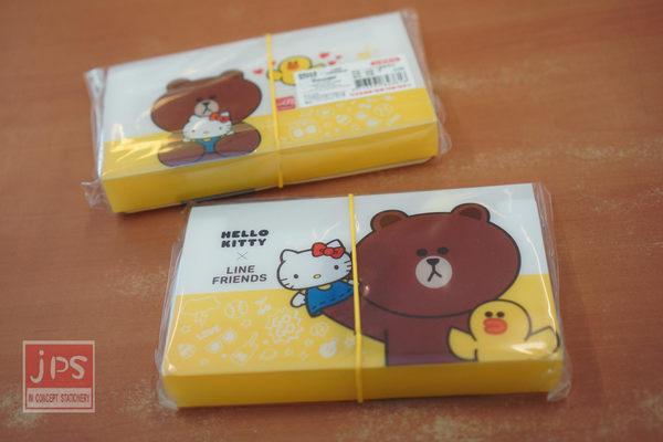 Hello Kitty×LINE 二代12層風琴夾 (熊大黃)