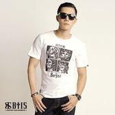 【BTIS】中性款圓領T-shirt / 白色