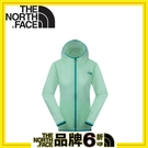 【The North Face 女 排汗外套《芽綠》】2VEN/防潑水/休閒外套/戶外/兜帽外套