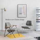 設計師單人休閑沙發椅極簡現代簡約北歐懶人臥室布藝網紅小戶型 果果輕時尚