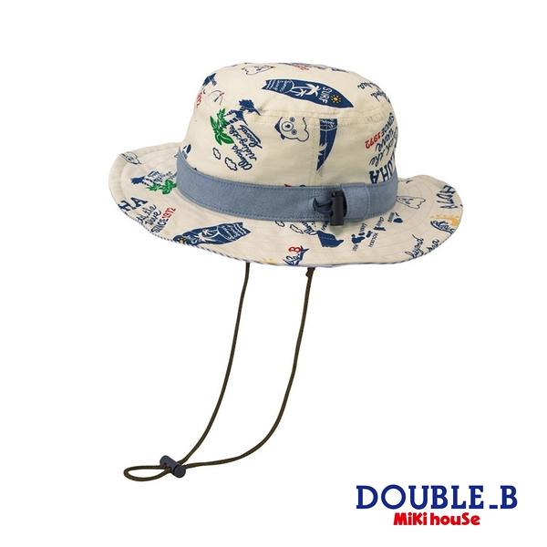 DOUBLE_B 可愛黑熊Aloha抗UV遮陽帽