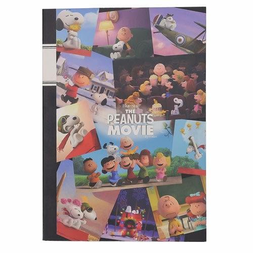 《sun-star》SNOOPY-史努比 The Peanuts Movie系列B5膠裝筆記本(集合寫真)★funbox生活用品★ OP47798