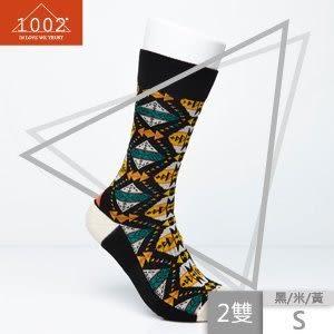 【1002】精梳棉幾何圖形提花長襪(2雙/S) 01700510-00001