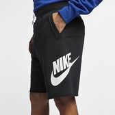 【現貨】NIKE Sportswear 男女 短褲 休閒 柔軟 透氣 舒適 運動 黑白 大LOGO 基本 AR2376-010