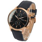 FOSSIL Townsman二眼計時皮革腕錶43mm(FS5436)270524