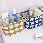 ✭慢思行✭【Y72】手提棉麻收納筐 桌面 雜物 玩具 文具 辦公 工具 布藝 擺飾 閨密 禮物