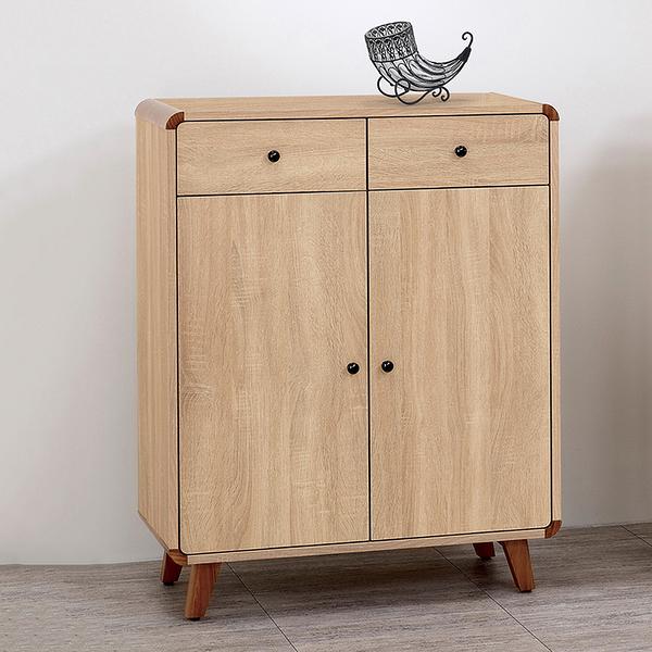 【森可家居】柏克2.64尺鞋櫃 8ZX714-4 木紋質感 北歐風