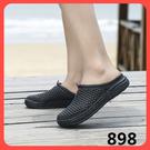 夏季鳥巢洞洞鞋男休閒韓版夏天沙灘涼鞋子懶人包頭涼拖半拖鞋無跟 新年特惠