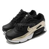 Nike 休閒鞋 Air Max 90 LTR PS 黑 金 童鞋 中童鞋 氣墊 復古 【ACS】 CD6867-008