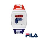 【FILA 斐樂】/紅藍配色LOGO手錶(男錶 女錶 Watch)/38-105-005/台灣總代理原廠公司貨兩年保固