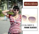 Minka Queen 夏日彩框 流行焦點淺粉紅框(抗UV400)時尚百搭太陽眼鏡