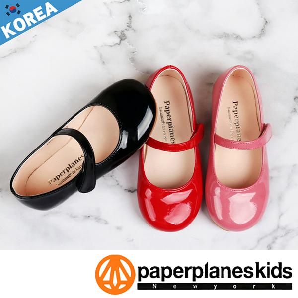 PAPERPLANES 紙飛機 正韓製 公主派對 漆皮 圓頭 甜美款 亮眼童鞋【B7909010】3色