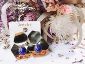 耳環 韓國 超質感金屬 幾何圖形 復古耳環 -Kathy's-【E002】