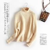 簡約時尚百搭高領毛衣針織上衣針織衫日系【55-24-860718-19】ibella 艾貝拉