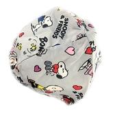 小禮堂 史努比 安全帽內襯 安全帽墊 帽套 (灰 朋友) 4712977-46621