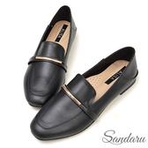 訂製鞋 金飾軟皮兩穿樂福鞋-艾莉莎ALISA【2588086】黑色下單區