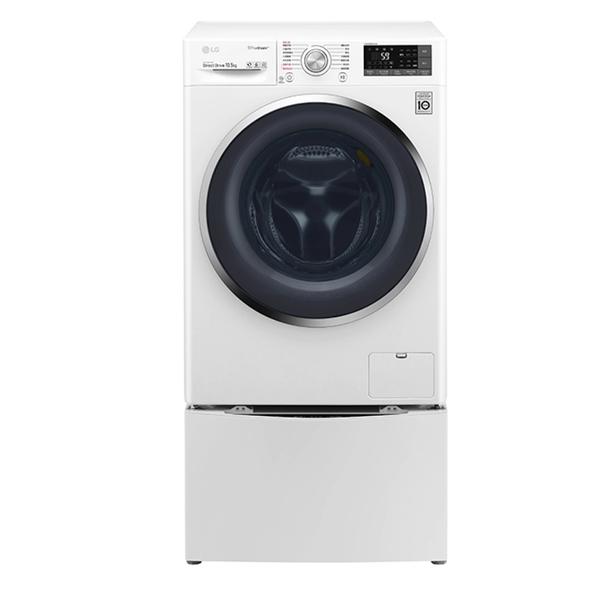 LG TWINWash 雙能洗 10.5公斤蒸氣洗脫+2公斤滾筒洗衣機 WD-S105VCW +WT-D200HW