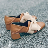 網紅單鞋女秋季新款百搭高跟溫柔晚晚仙女豆豆鞋小皮鞋潮牛津鞋紳士鞋 交換禮物