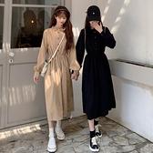 打底洋裝女裝秋冬季2020新款法式小眾黑色裙子收腰顯瘦內搭長裙 【端午節特惠】
