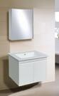 【台灣吉田】LOP-8960 60cm 全發泡桶身/水晶面板 浴櫃組