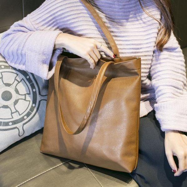 手提包 大包包新款韓版單肩手提包休閒簡約大容量子母包托特包女包潮