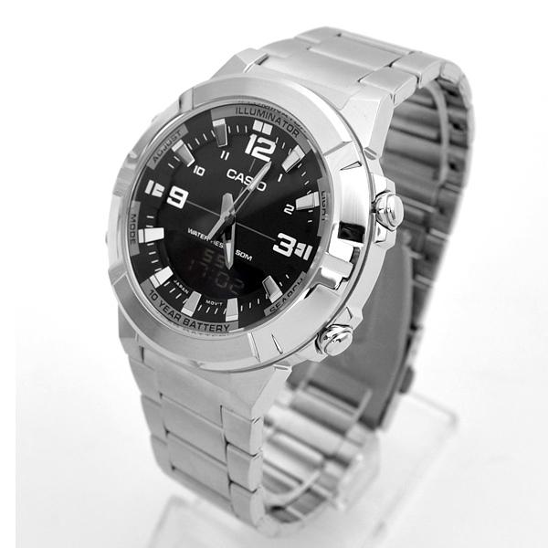 CASIO手錶 指針數位雙顯不鏽鋼錶NECE29