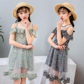 女童雪紡洋裝2018新款雪紡公主裙中大童洋氣時髦裙 st2299『毛菇小象』