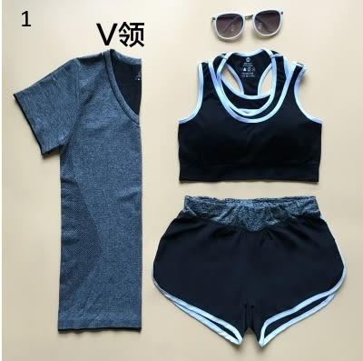 瑜伽服健身套裝運動服跑步服三件套顯瘦運動內衣女-6886001