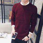 【魔法QQ】毛衣 韓版 修身純色圓領長袖打底衫針織衫  M122【預購】