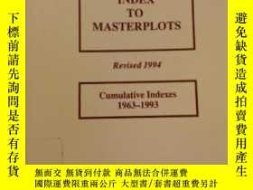 二手書博民逛書店Magill罕見Index To Masterplots: Cumulative Indexes 1963-199