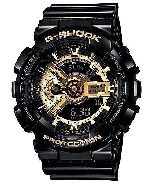 有發票 台灣卡西歐公司貨【時間光廊】CASIO 金色錶面 立體層次 G-SHOCK 抗震 GA-110GB-1A