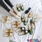 穆勒鞋 懶人半拖鞋女包頭外穿2021夏季新款時尚百搭網紅粗跟穆勒涼拖鞋潮 寶貝計畫