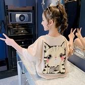 女童T恤 女童短袖T恤2021年夏季寬鬆洋氣童裝韓版純棉半袖兒童夏裝上衣潮【快速出貨】