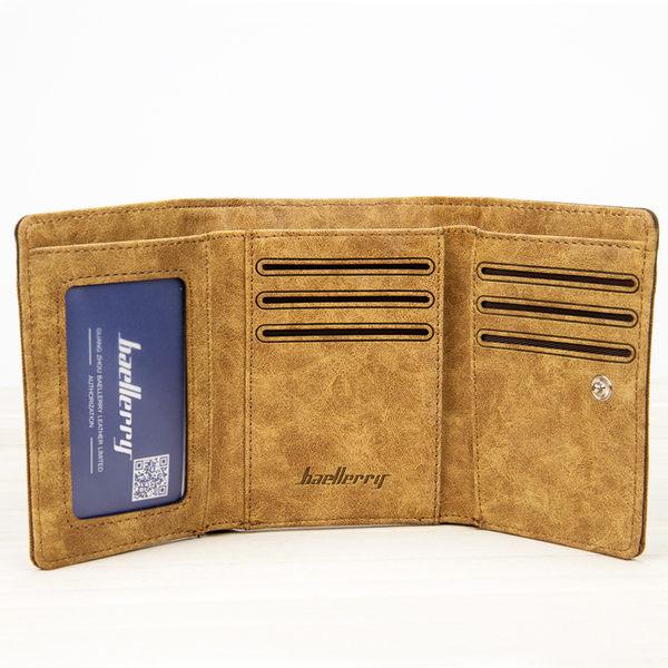 男包包 現貨 皮夾 優質超輕薄三折短夾-共2色-3688-寶來小舖