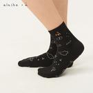 a la sha+a 圓圈圈小動物插畫踝襪