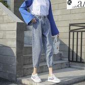 牛仔褲女韓版顯瘦寬鬆直筒褲【聚寶屋】