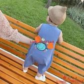 男寶寶無袖背心連體衣夏裝嬰兒衣服夏季薄款可愛超萌哈衣洋氣【齊心88】