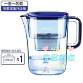 淨水器 凈水壺自來水過濾器家用凈水器廚房直飲濾水壺便攜凈水杯濾芯