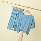 兒童睡衣 春夏季兒童莫代爾棉睡衣男童女童薄款家居服套裝男孩寶寶內衣短袖 4色