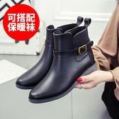 切爾西雨鞋女韓國可愛成人防水防滑短筒水鞋低幫水靴時尚雨靴膠鞋zg