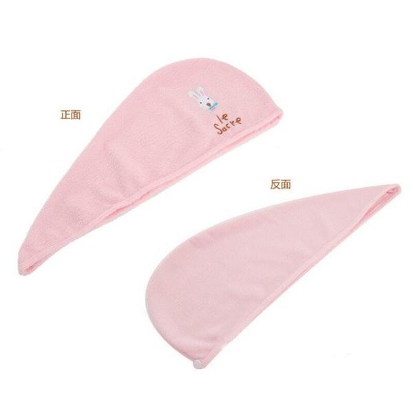 【DF305】兔子乾髮帽 超強吸水性七倍吸水力浴帽式吸水頭巾長短髮都適用 EZGO商城