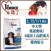 *WANG*瑪丁 中大型成犬 低運動量/6歲以上高齡犬《雞肉配方》狗飼料14kg
