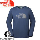 【The North Face 男款  FlashDry長袖排汗衣《藍》】366MHDC/排汗衣/長袖/長袖T恤★滿額送