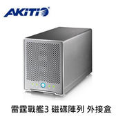 AKiTiO Thunder3 Quad mini 迷你雷霆戰艦 4bay 磁碟陣列 外接盒(T3QM-T3DIAY)