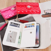 韓國 山茶花 手拿包 磁釦皮套 手機殼│iPhone 6 6S Plus LG G5 G6 G7 V10 V20│z6800
