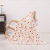 毛毯 柔軟珊瑚絨多用毯空調被波點毯子毛巾被午睡蓋毯 nm6524【pink中大尺碼】